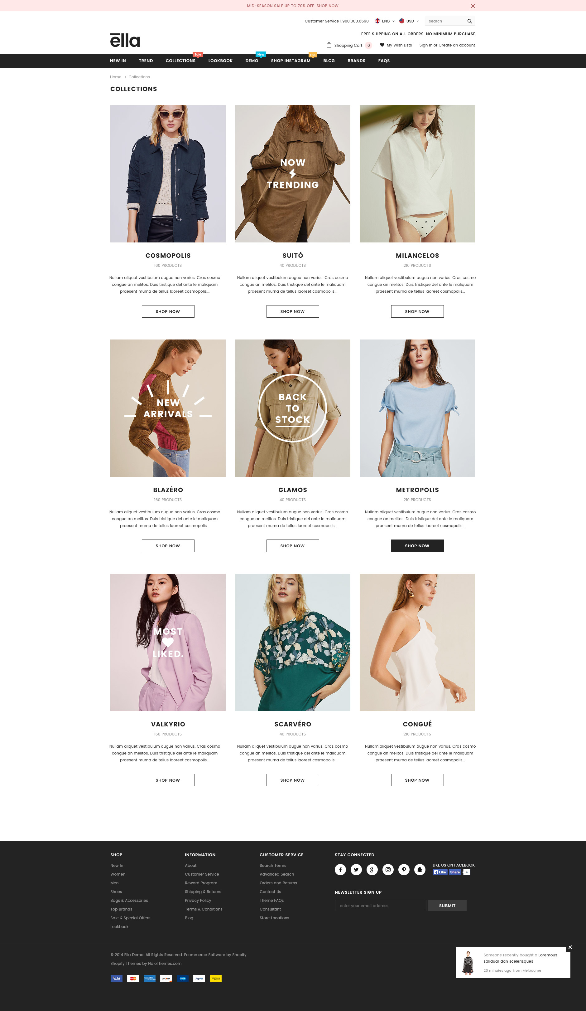 Ella - Responsive Fashion Shopify Template (Sections Ready)