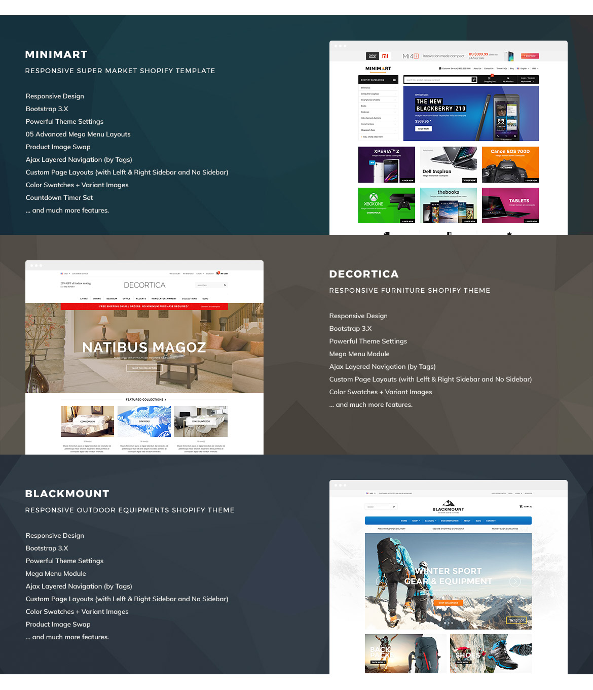 Decortica responsive shopify template for What is a responsive template