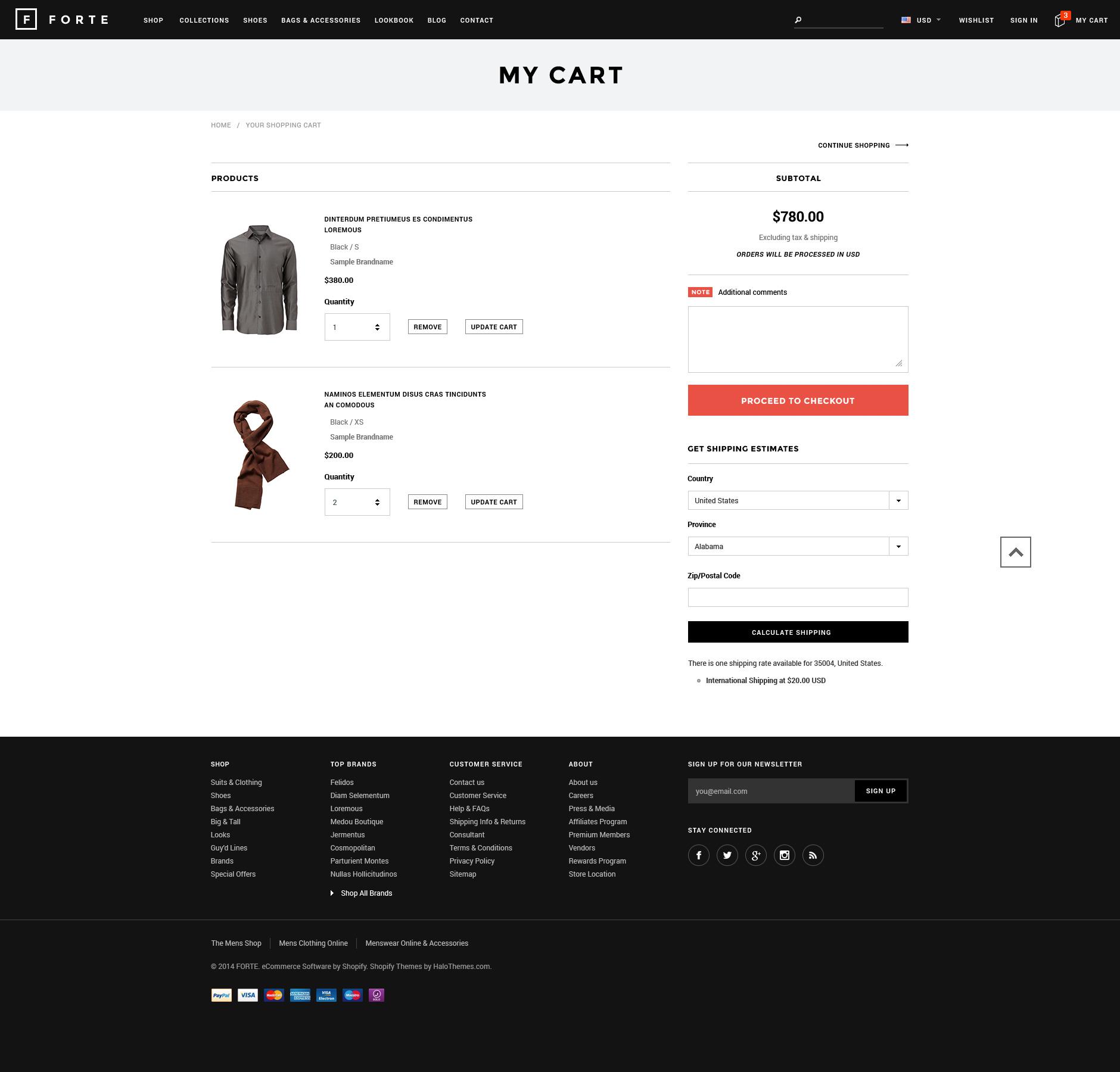 FORTE - Responsive Shopify Template - HaloThemes com