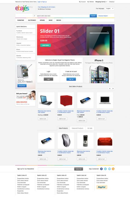 Free Magento Templates by HaloThemes.com - Awesome Design & Powerful ...