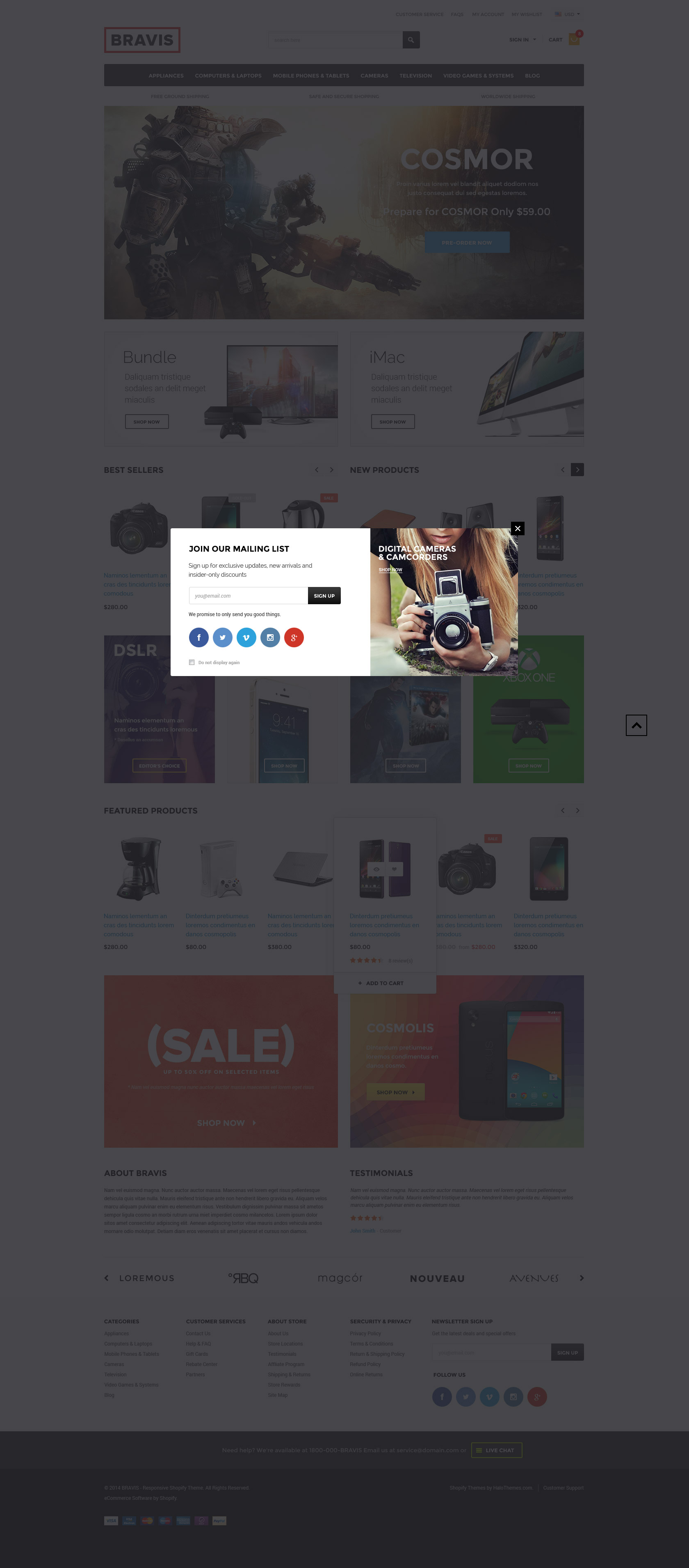Bravis - Responsive Electronics Shopify Template (Sections Ready ...