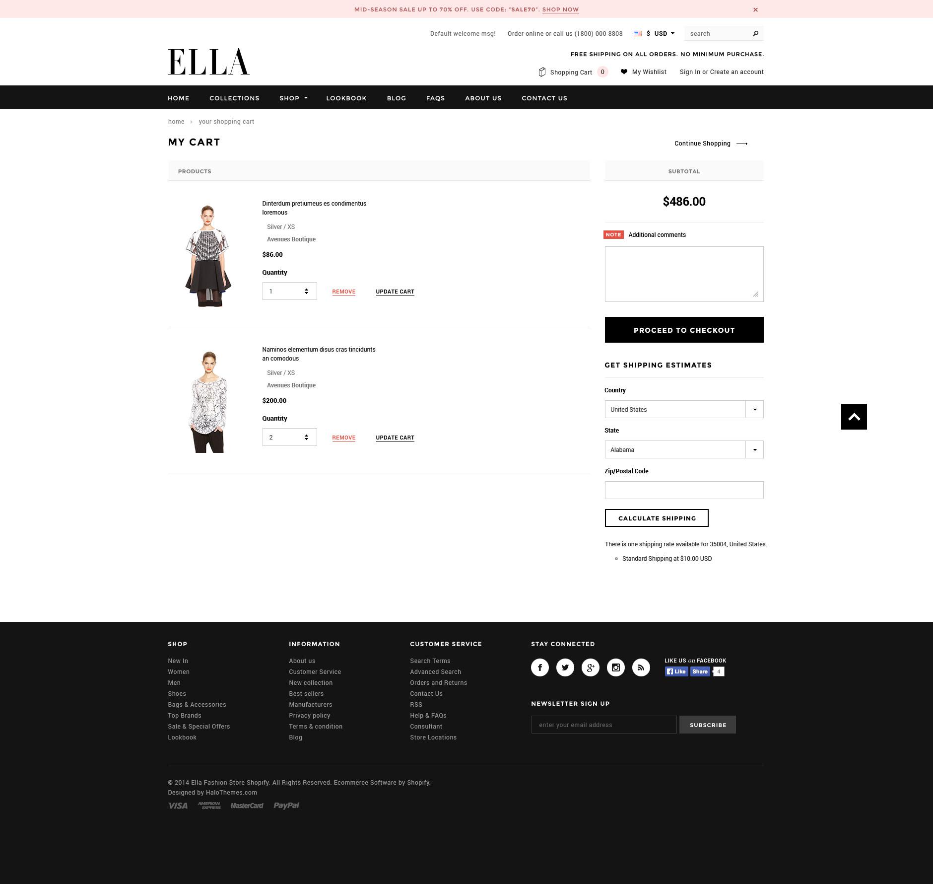 Ella Fashion Store Shopify