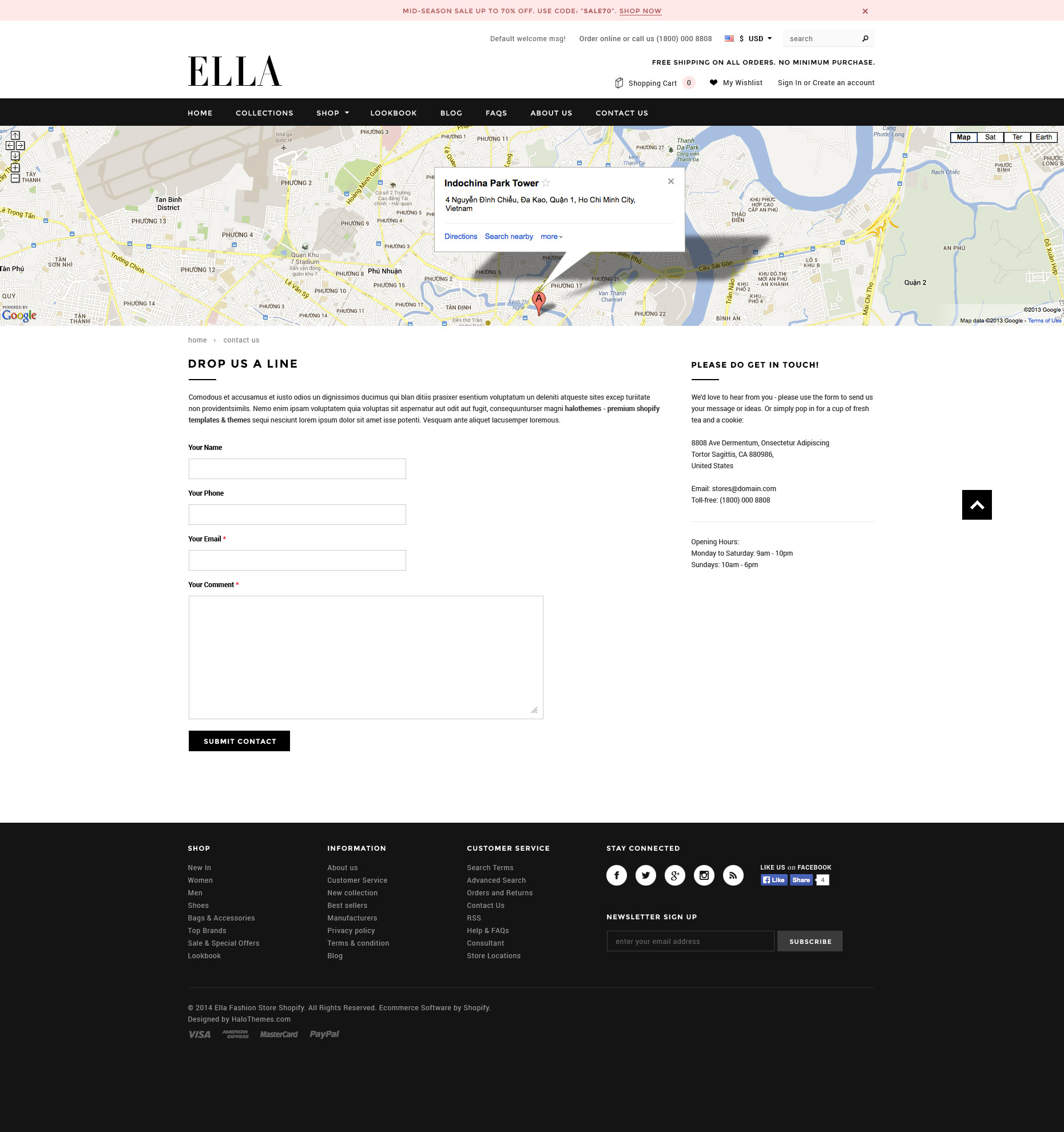 Ella - Responsive Fashion Shopify Template