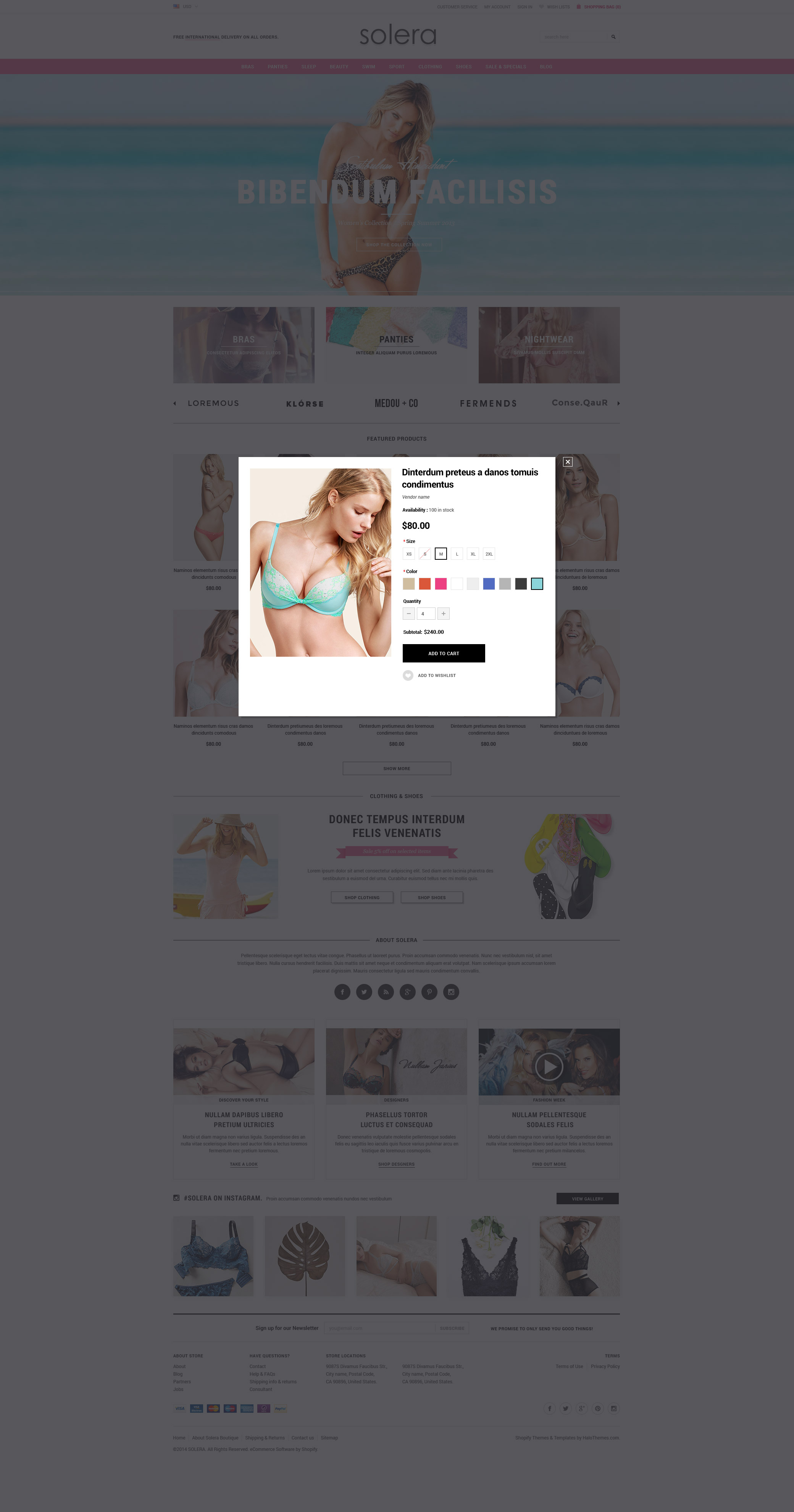 Solera - Responsive Lingerie Shopify Template