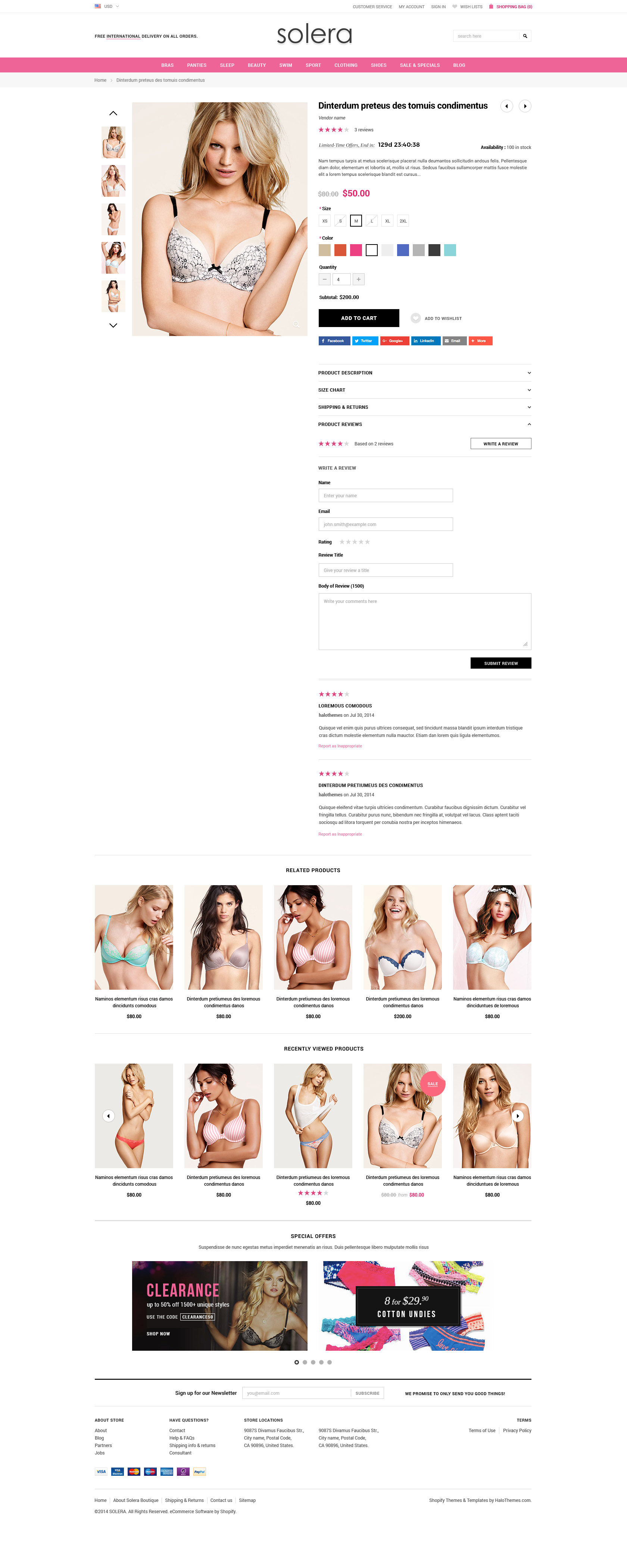 Solera – Responsive Lingerie Shopify Template