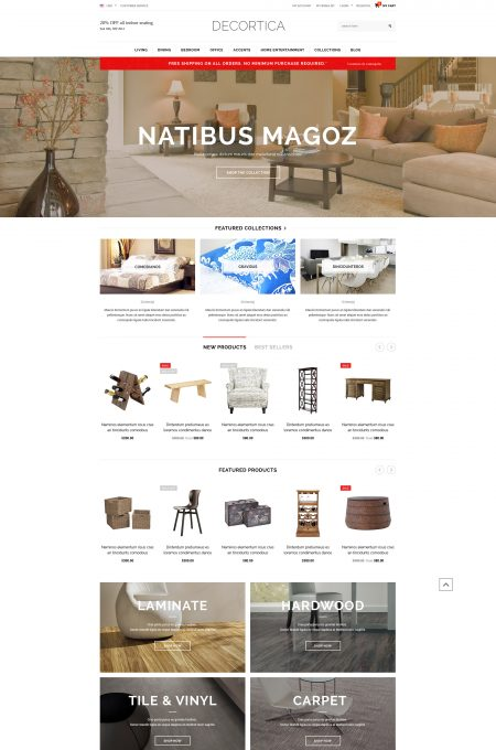 DECORTICA - Responsive Shopify Template