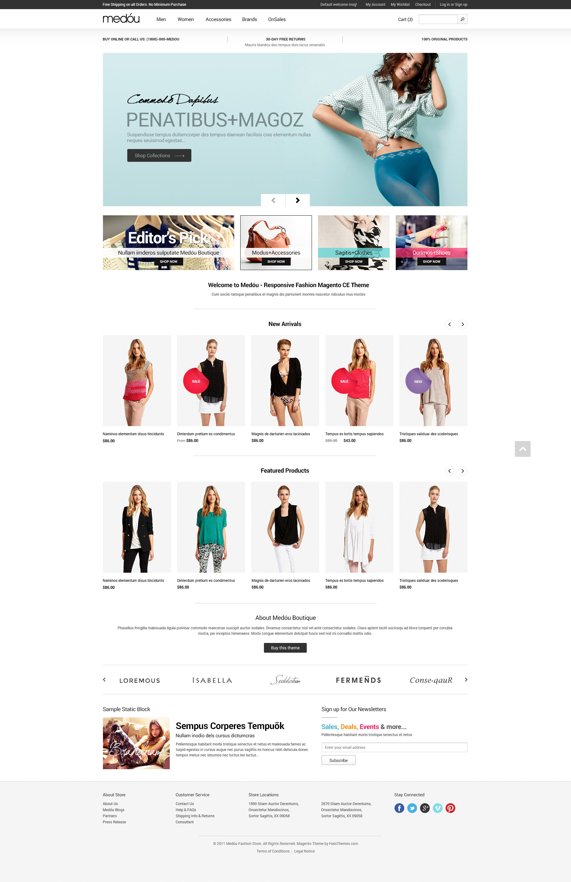 Halo Medou - Fashion Responsive Magento Theme (1.9.x ready)