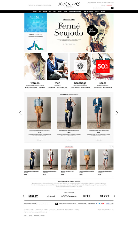 Go Avenues - Responsive Fashion Magento Go Theme: Released