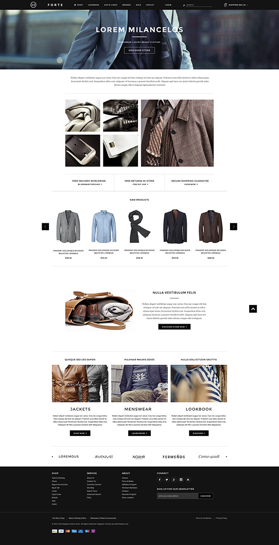 Go FORTE - Mens Clothing Responsive Magento Go Theme: Released