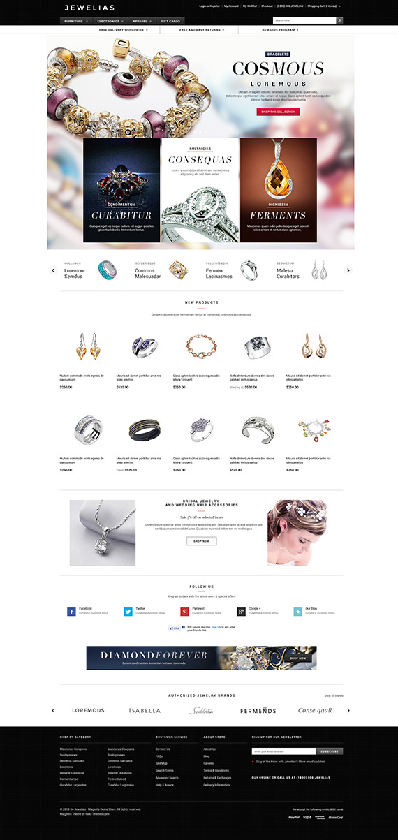 Go Jewelias - Responsive Jewelry Magento Go Theme: Released