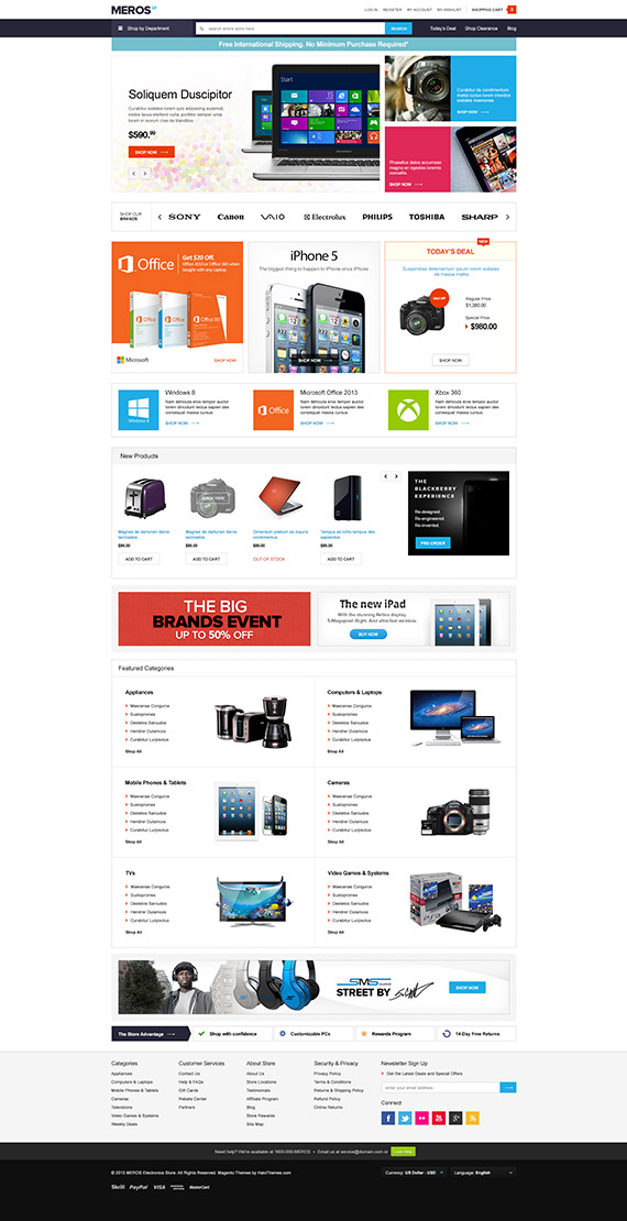 Go Meros - Responsive Hi-Tech Magento Go Theme: Released