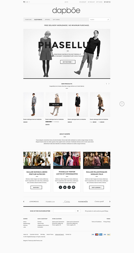 Go Dapboe - Fashion Magento Go Theme for Magento Go: Released