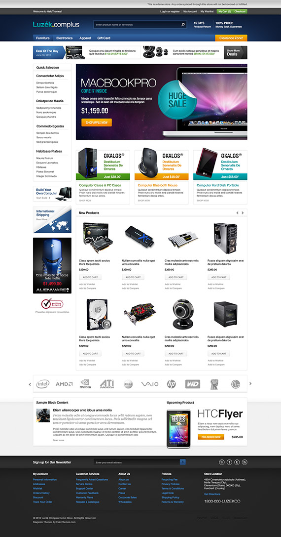 Go Luzek - Laptop Magento Go Theme for Magento Go: Released