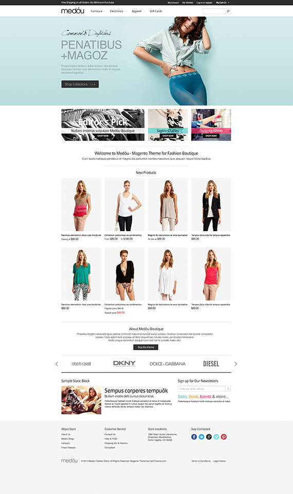 Go Medou - Fashion Magento Go Theme: Released