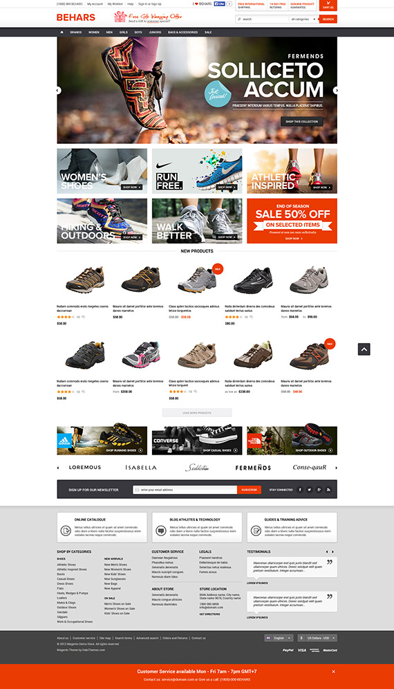 Halo behars premium responsive magento ce template for Magento community templates