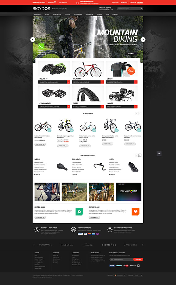 Halo Bicydos - Bike Store Responsive Magento Template: Dark Version now included.