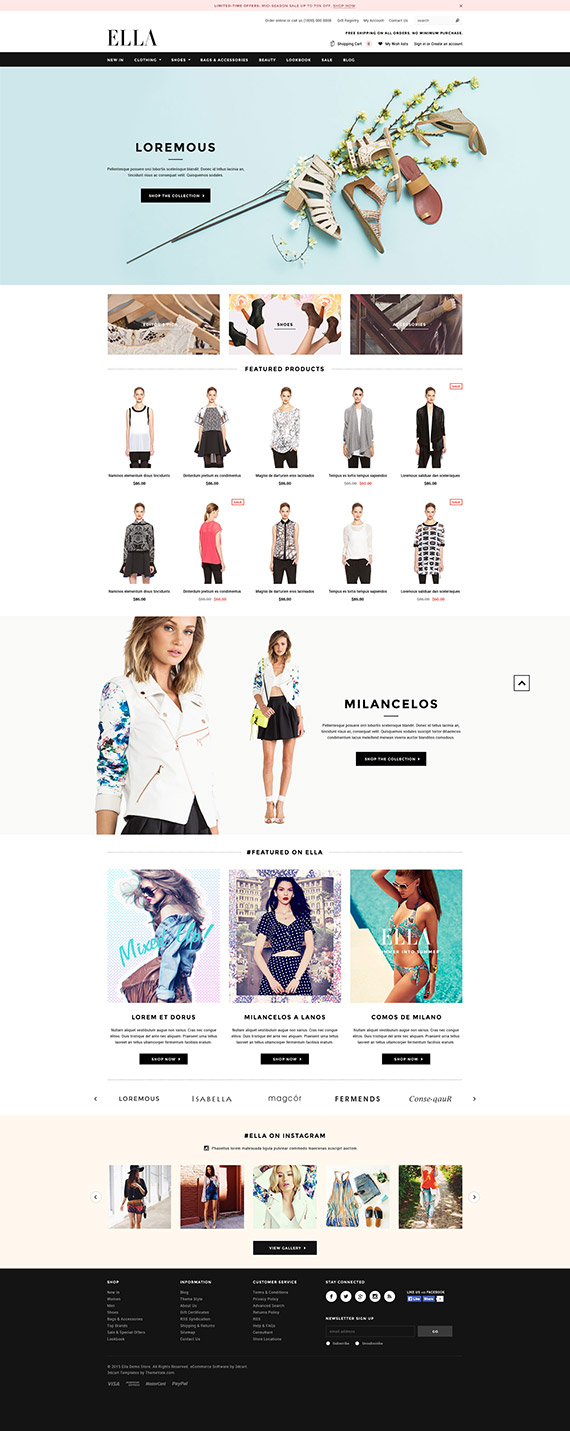 ELLA - Responsive 3dCart Template: Released