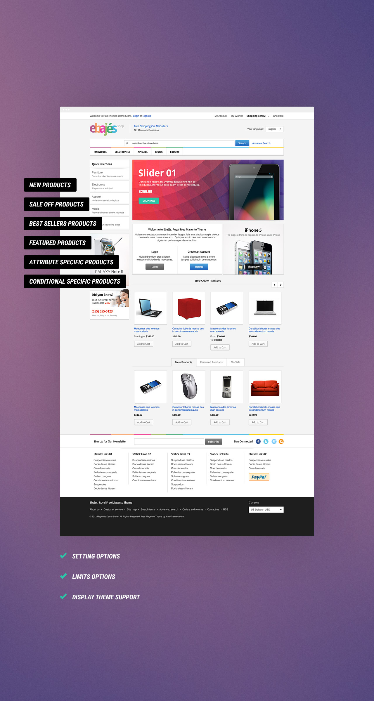 Halo Filter Products Widget Magento Extension