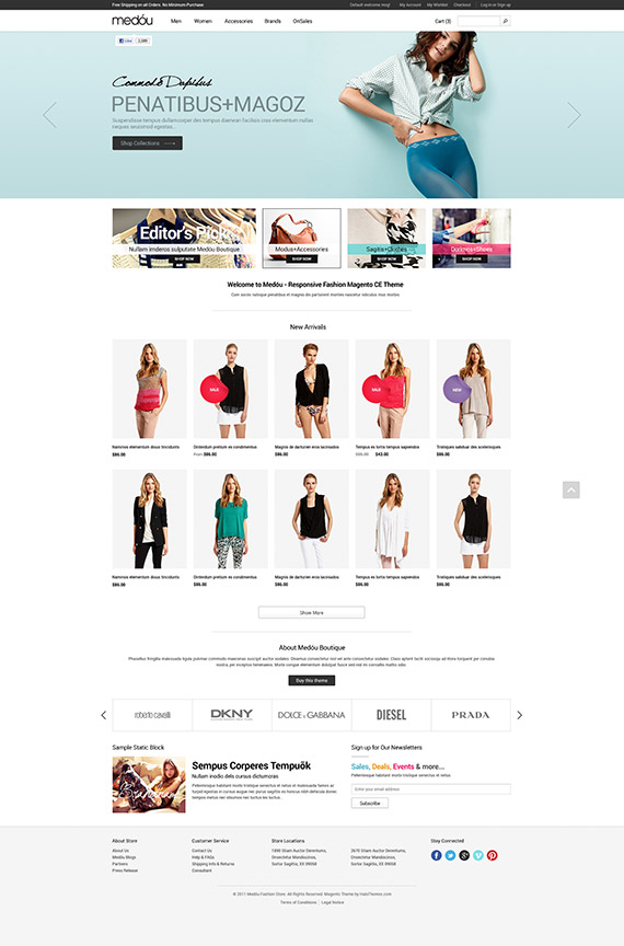 Halo medou fashion responsive magento theme released for Magento community templates
