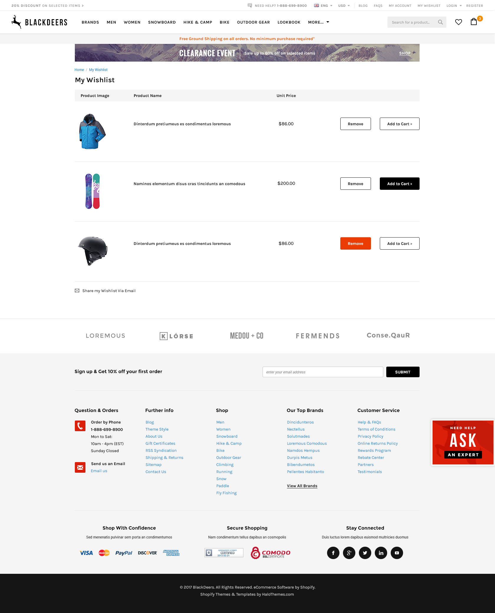 BlackDeers - Responsive Sporting Goods Shopify Template (Sections Ready)