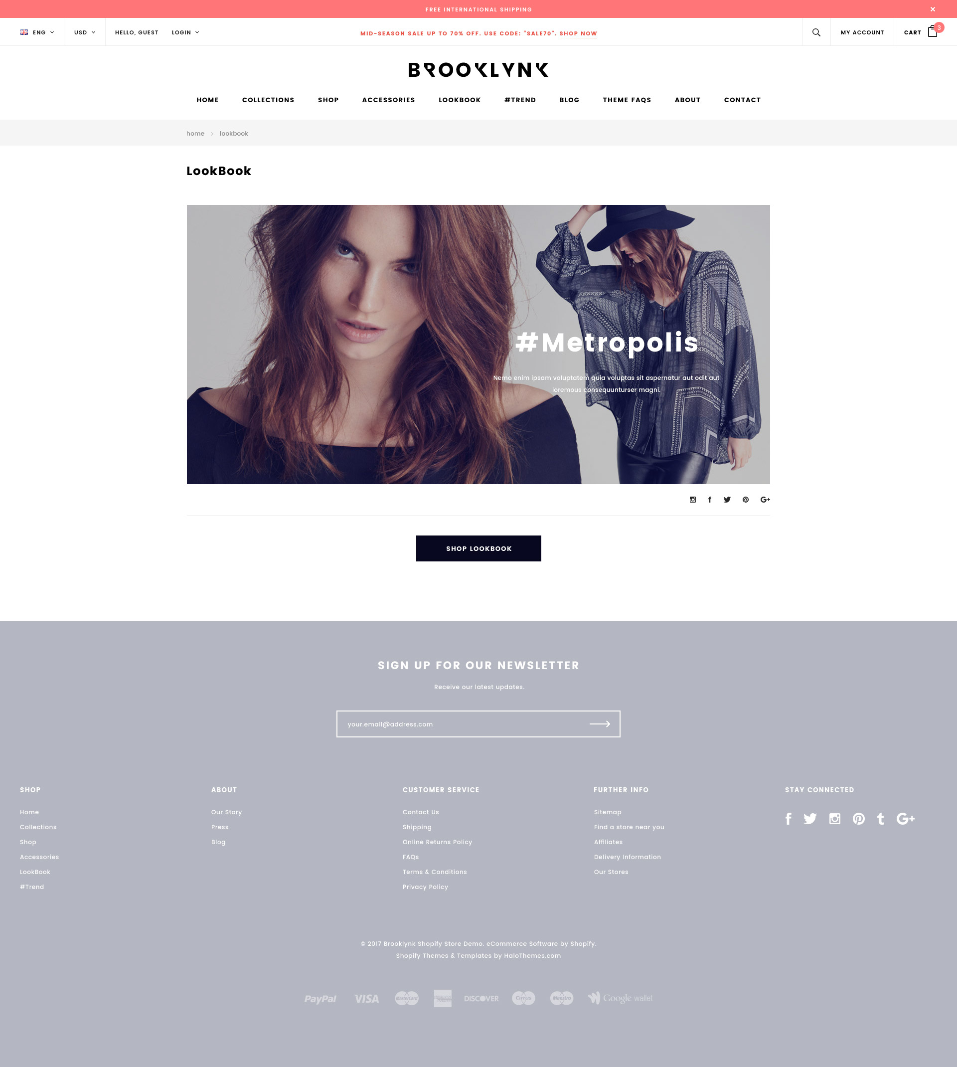 Brooklynk – Responsive Fashion Shopify Template (Sections Ready)