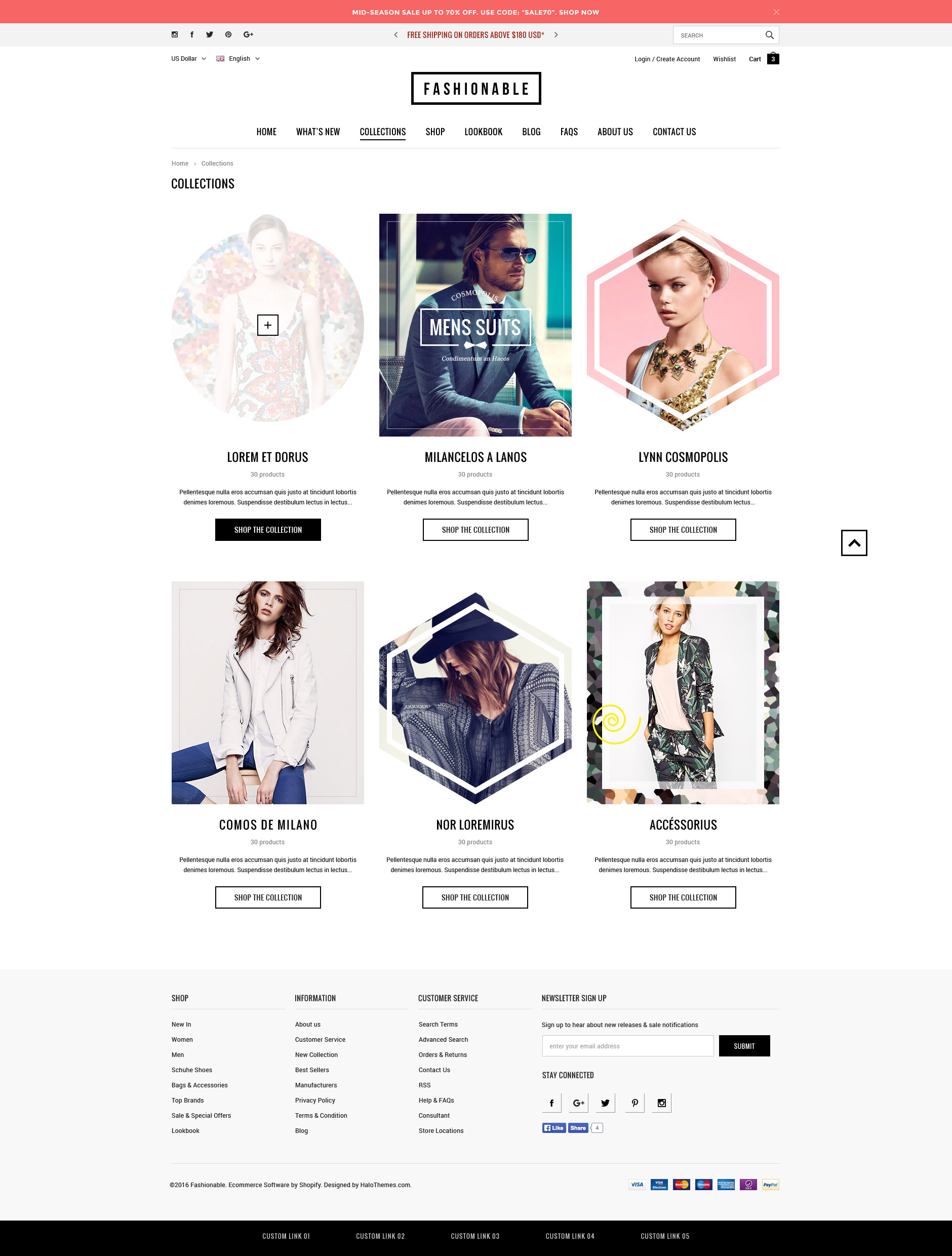 Fashionable Responsive Fashion Shopify Template Sections Ready