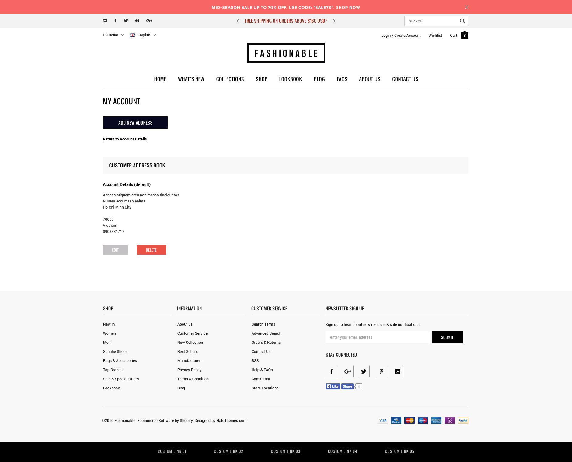 Fashionable - Responsive Fashion Shopify Template (Sections Ready)