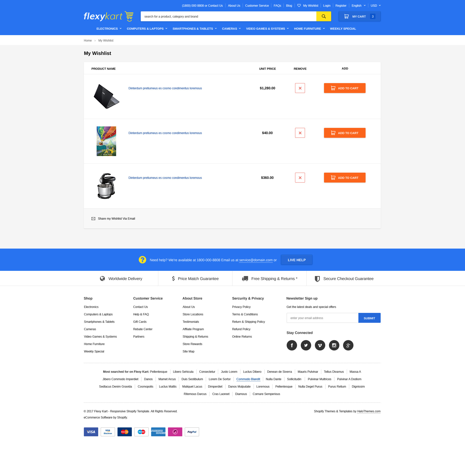 FlexyKart - Responsive Supermarket Shopify Template