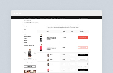 Shopify Module: Express Order by HaloThemes