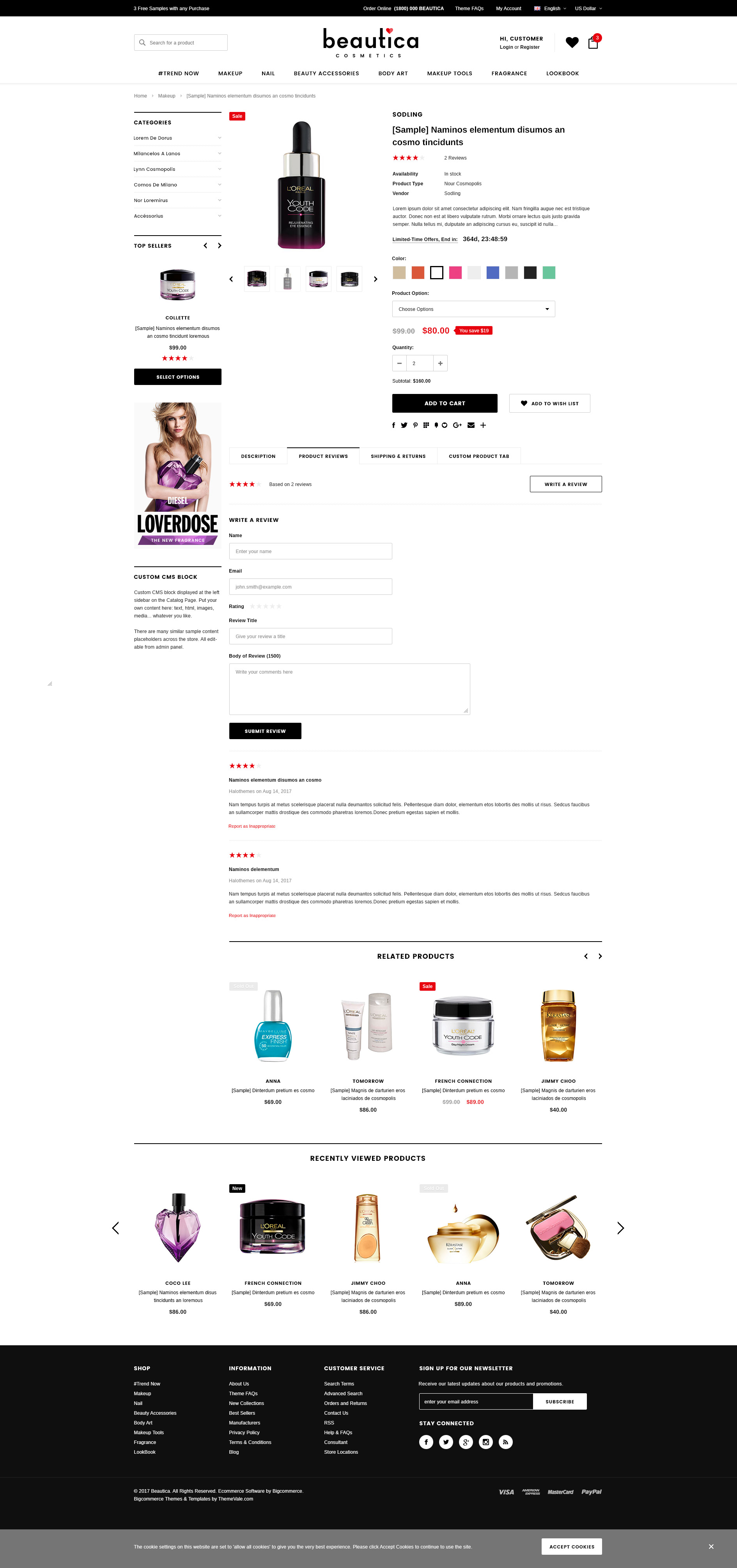 Beautica - Responsive Health & Beauty Shopify Template - HaloThemes.com