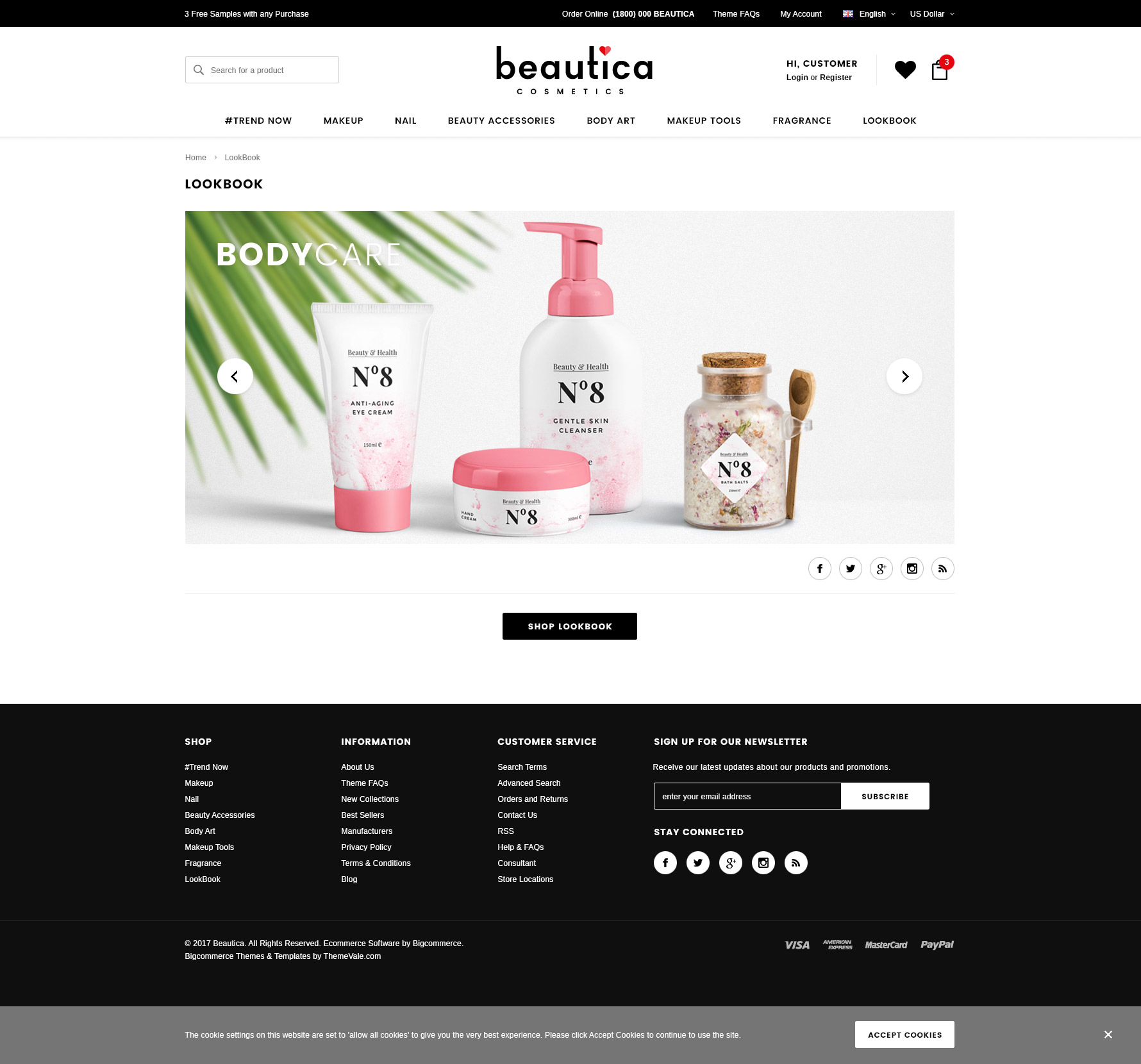 Beautica Responsive Health Beauty Shopify Template HaloThemescom - Shopify design templates