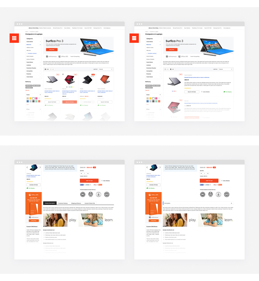 EMartica Responsive Supermarket Shopify Template HaloThemescom - Premium shopify templates