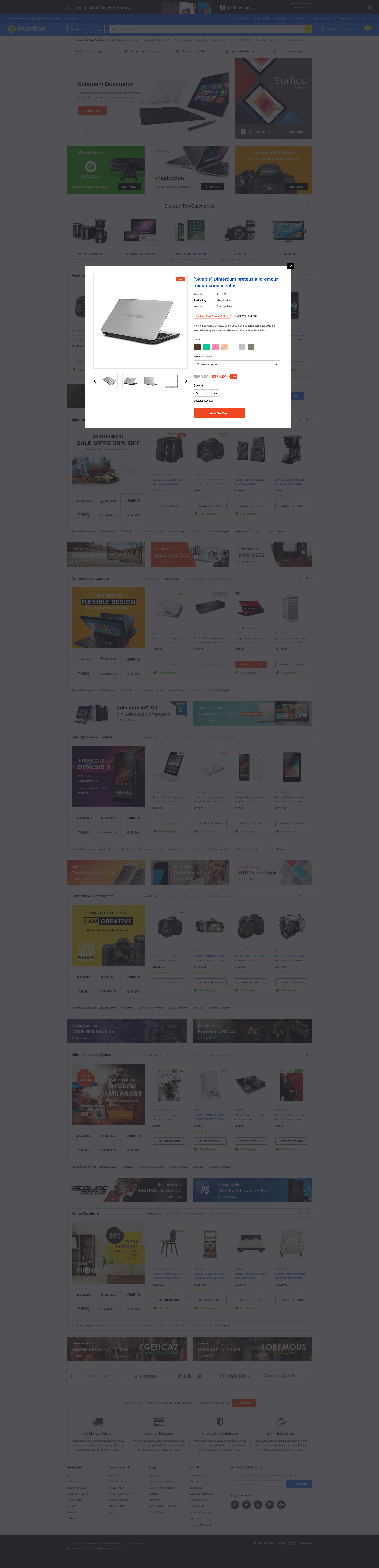 eMartica – Responsive Supermarket Shopify Template