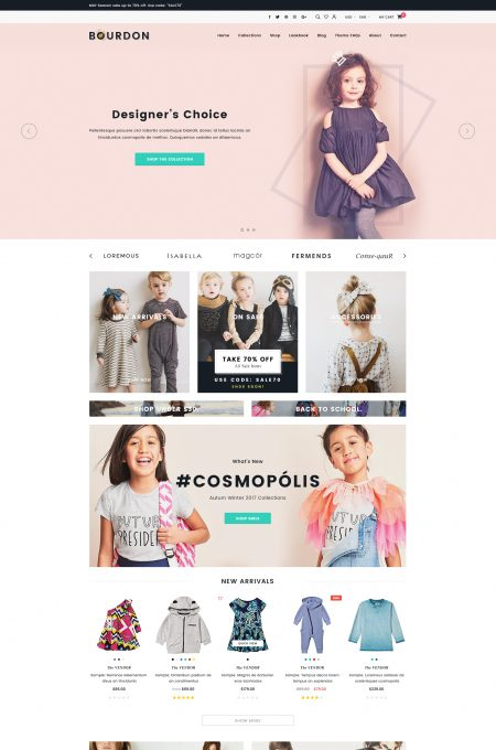 Bourdon – Responsive Kids Clothing Shopify Template