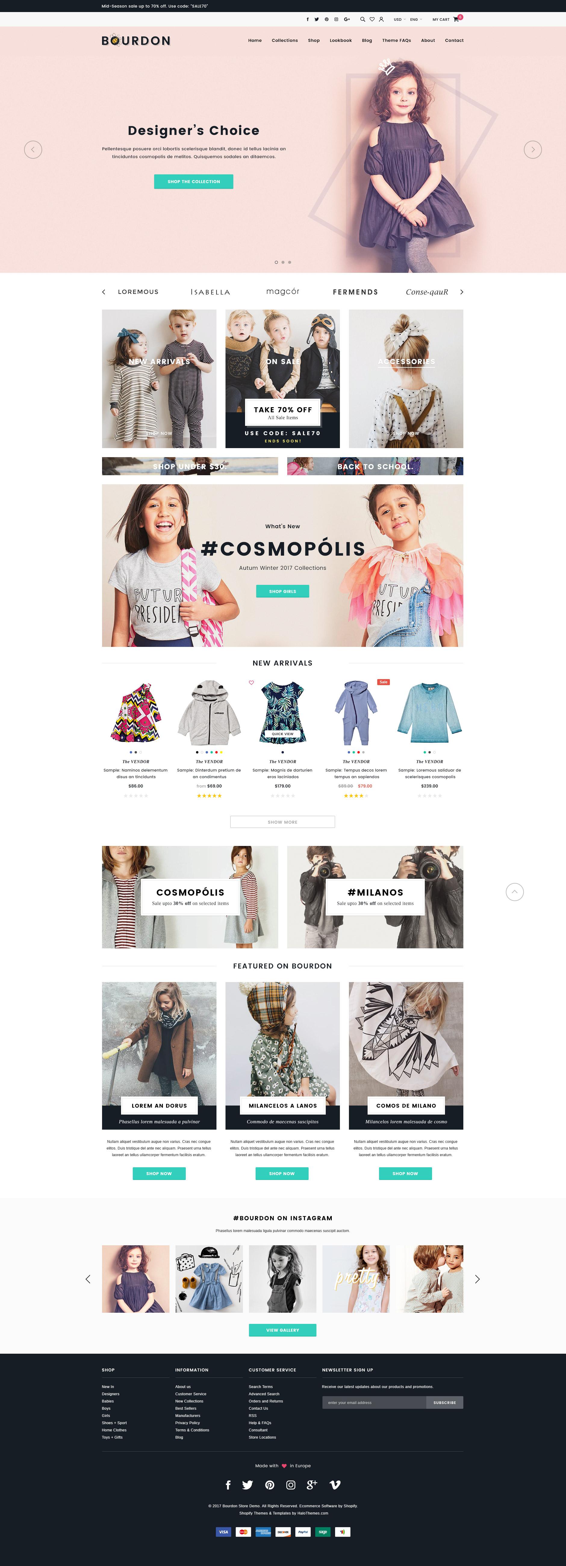 Bourdon – Responsive Kids Clothing Shopify Template