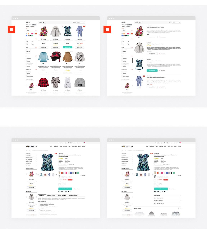 Bourdon Responsive Kids Clothing Shopify Template HaloThemescom - Premium shopify templates