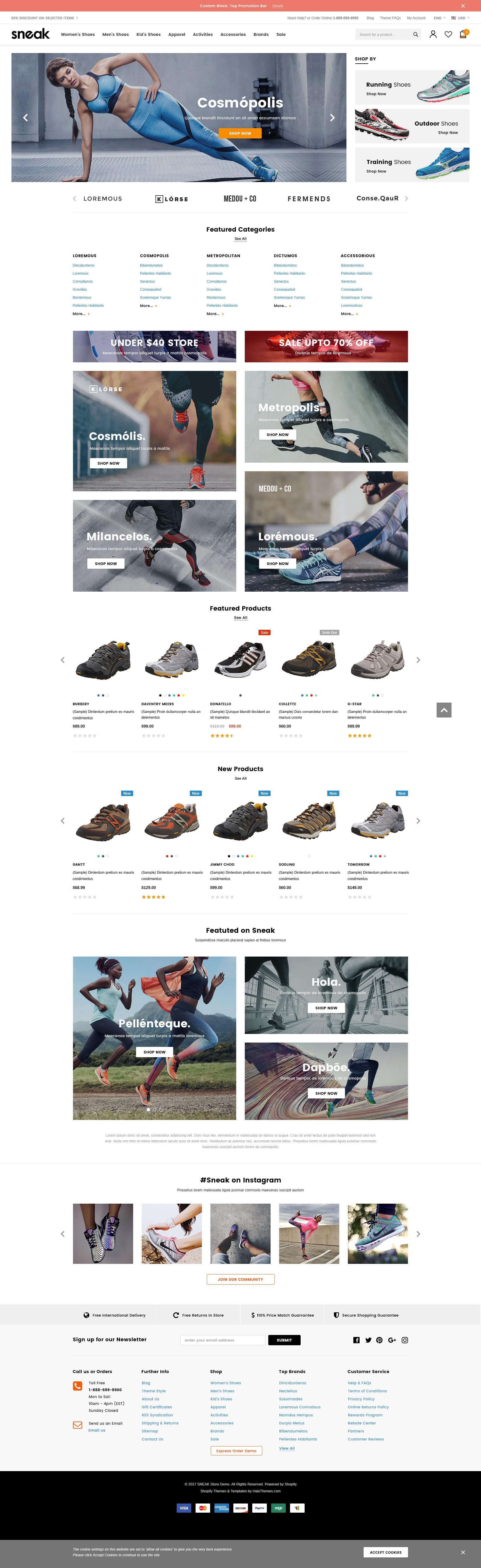 Sneak – Responsive Shoes Shopify Template