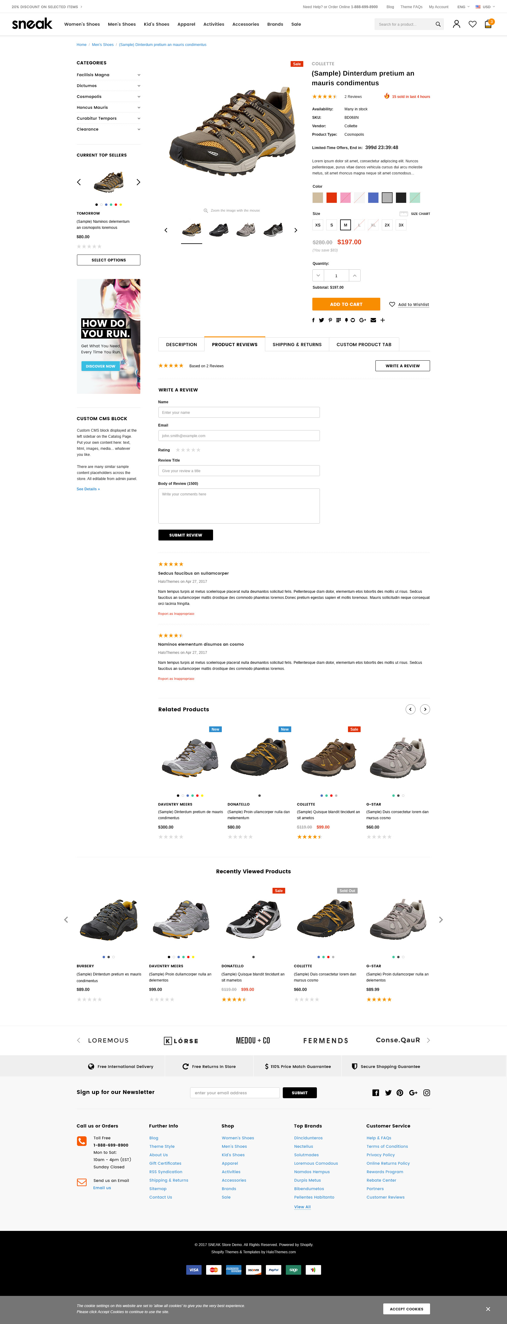 Sneak – Responsive Shoes Shopify Template