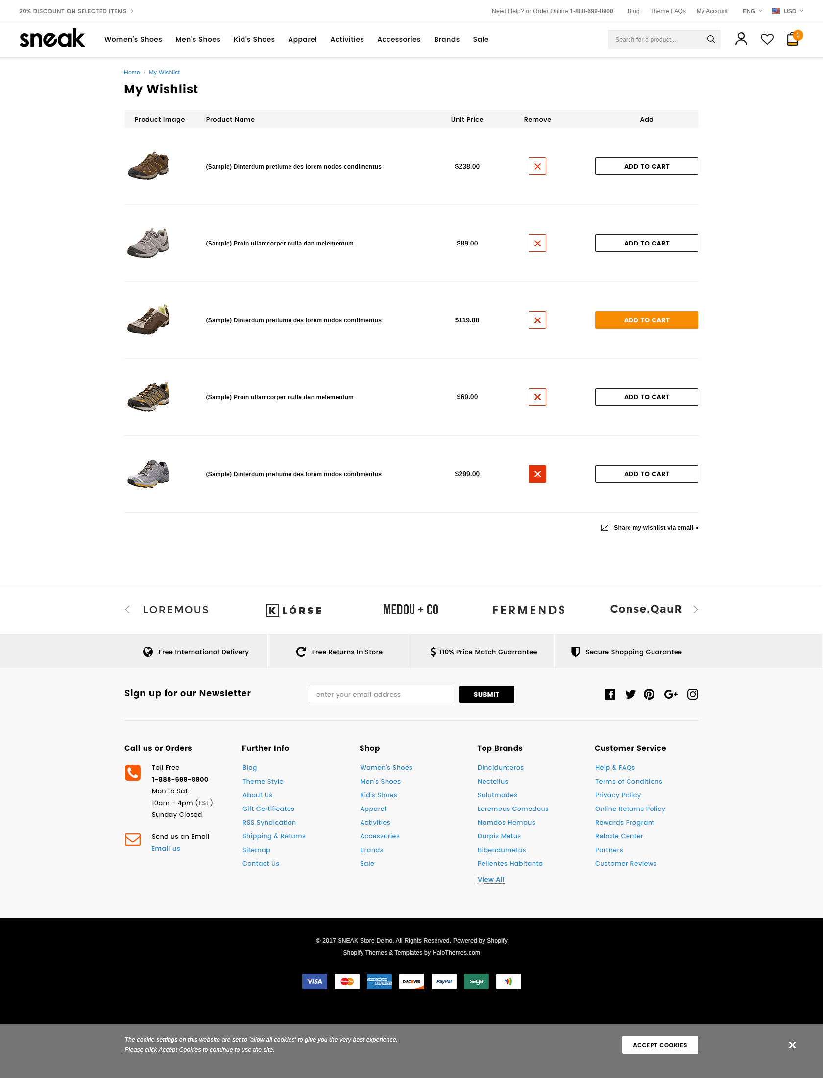 Sneak – Responsive Shoes Shopify Template - HaloThemes com