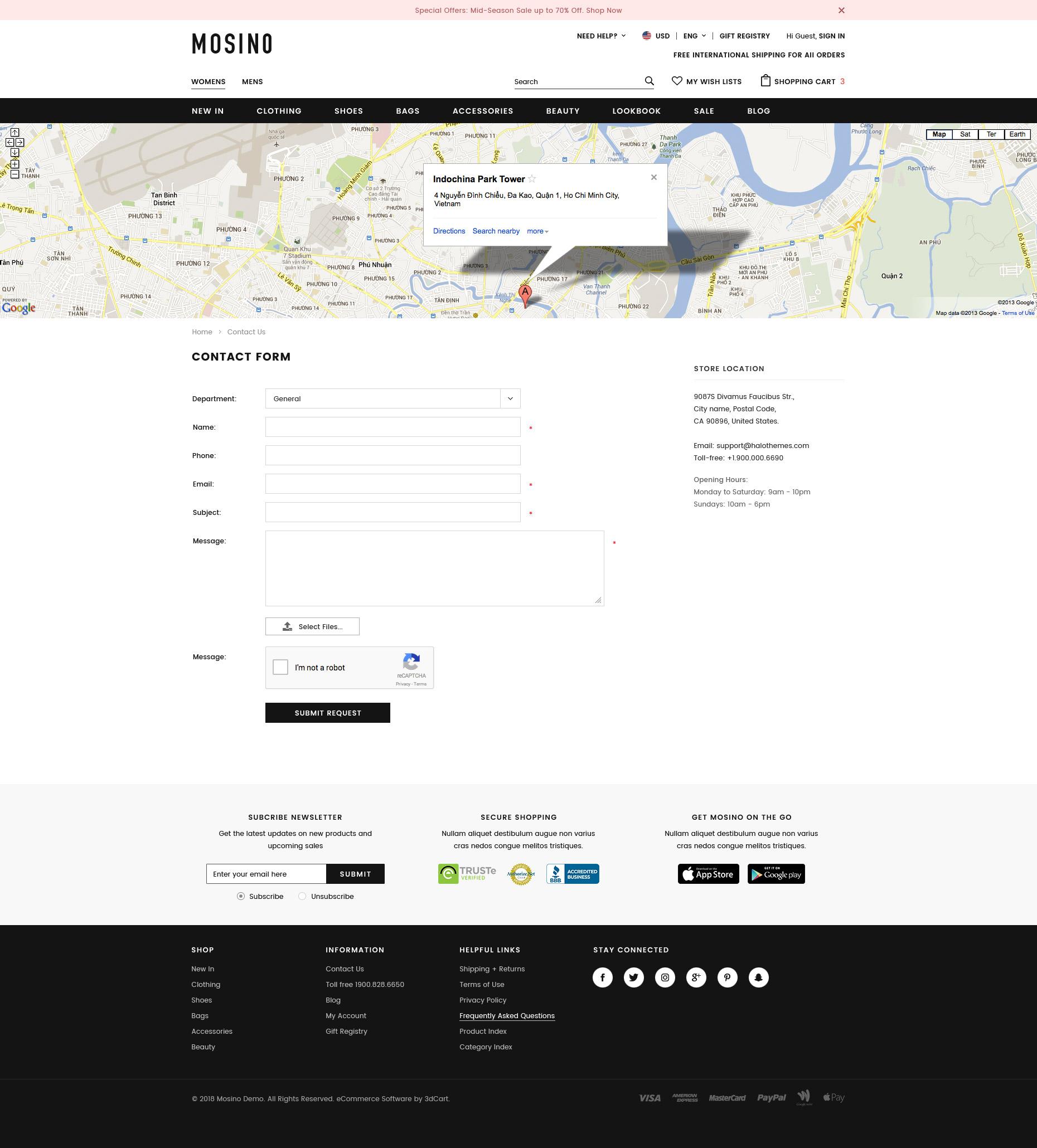 MOSINO - Responsive Fashion 3dCart Theme (Core)