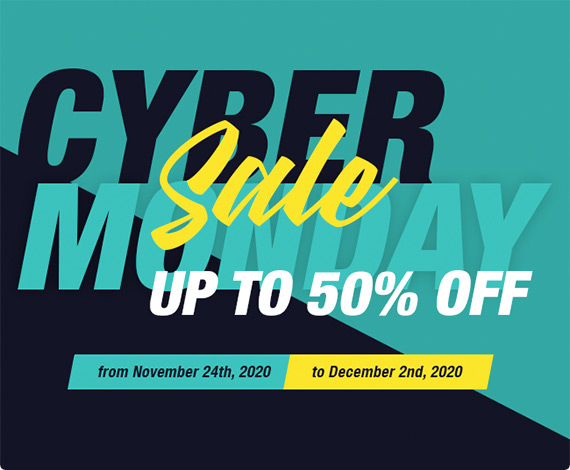 CYBER MONDAY SALE UP TO 50% OFF