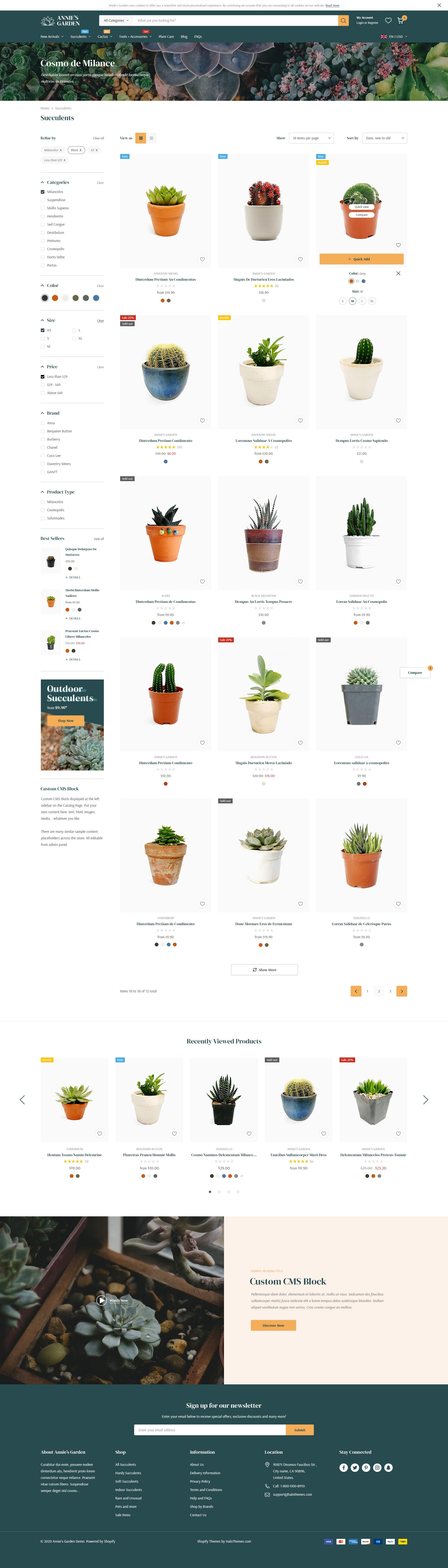 Annie's Garden - Home & Garden Shopify Section Theme